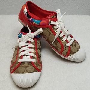 Coach Zorra Sneakers Red, Sig. Print multi-color